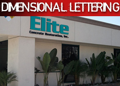 Dimensional Lettering Signs Anaheim